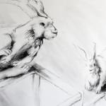 Rabbits-2_detail1 50x42 Charcoal 2016